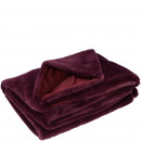 Faux fur blancket Lino, L200cm, B150cm, burgundy